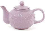 """Чайник заварочный """"Нежный орнамент"""" 1000мл, керамический, фиолетовый"""