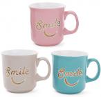 """Кружка керамічна """"Smile"""" (Посмішка) 475мл, пастельні тони"""