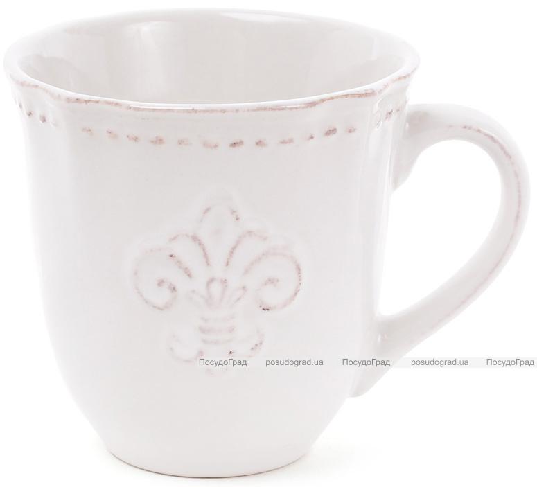"Кружка Shabby Chic ""Королевская лилия"" 350мл, молочная"