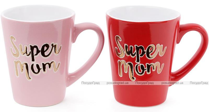 """Кружка керамическая """"Super Mom"""" 340мл"""