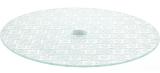 Блюдо сервіровочне Liadane Pattern поворотне Ø30см скляне