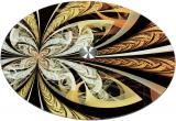 Блюдо сервировочное Liadane Золотой Калейдоскоп вращающееся Ø32см стеклянное
