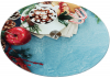 Блюдо сервіровочне Liadane Святковий Ранок поворотне Ø32см скляне