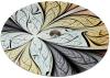 Блюдо сервіровочне Liadane Калейдоскоп поворотне Ø32см скляне