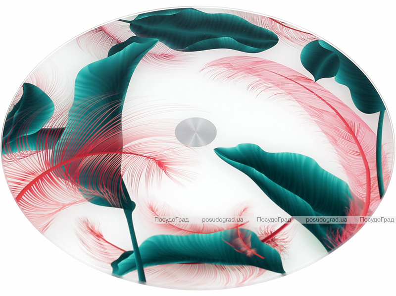 """Блюдо сервировочное Liadane """"Тропикана"""" вращающееся Ø32см стеклянное"""