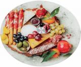 """Блюдо сервировочное Liadane """"Парма"""" вращающееся Ø32см стеклянное"""