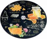 """Блюдо сервировочное Liadane """"Honey"""" вращающееся Ø32см стеклянное"""