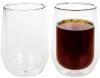 Набір 2 склянки Lorenza 370мл з подвійними стінками, скляні термостакани