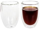 Набір 2 склянки Lorenza 350мл з подвійними стінками, скляні термостакани