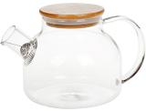 Чайник заварювальний Lorenza 1л з бамбуковою кришкою