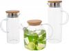 Заварочный чайник Lorenza 1.5л с бамбуковой крышкой