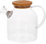 Чайник заварювальний Lorenza 1.5л з бамбуковою кришкою