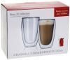 Набір 2 термо-склянки Lorenza 450мл з подвійними стінками, скляні термостакани