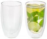 Набор 2 термо-стакана Lorenza 450мл с двойными стенками, стеклянные термостаканы