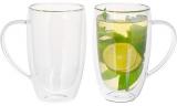 Набір 2 термо-чашки Lorenza 450мл з подвійними стінками, скляні термокружки