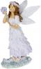 """Декоративна статуетка """"Фея з Букетом"""" 9х5х16.5см, полистоун, ліловий"""