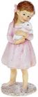 """Декоративна статуетка """"Дівчинка з Кроленям"""" 5.5х5х14.5см, полистоун, рожевий"""