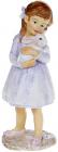 """Декоративна статуетка """"Дівчинка з Кроленям"""" 5.5х5х14.5см, полистоун, ліловий"""