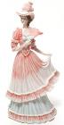 """Статуэтка декоративная """"Дама в розовом платье"""" 33см, искусственный камень"""