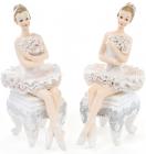 """Статуэтка декоративная """"Балерина на стуле"""" 12см"""