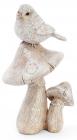 """Статуетка декоративна """"Пташка на грибах"""" 8х6.5х15см"""