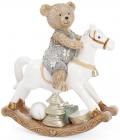 "Декоративная статуэтка-качалка ""Мишка на лошадке"" 15см"