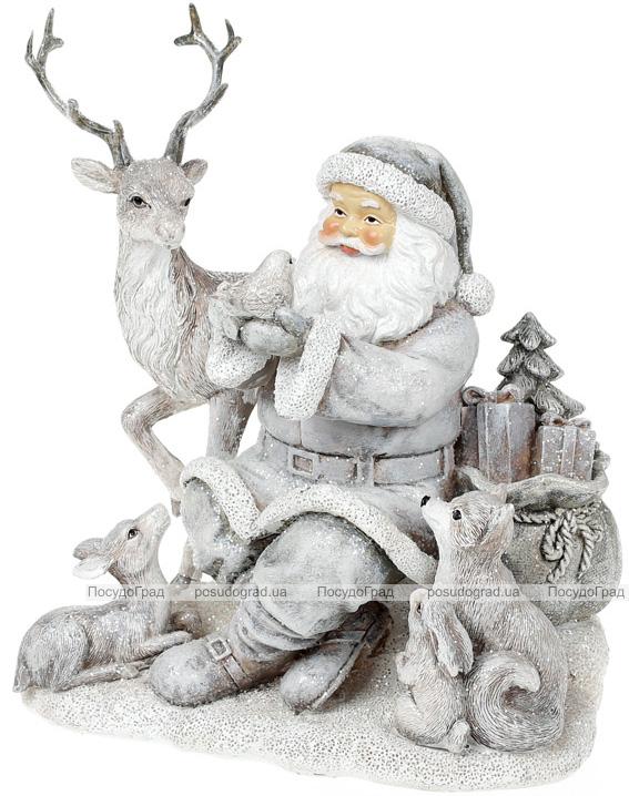 "Декоративная статуэтка ""Санта с друзьями"" 19.5см"