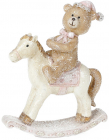 """Декоративна статуетка-качалка """"Ведмедик на конячці"""" 10.5см"""