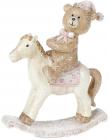 "Декоративная статуэтка-качалка ""Мишка на лошадке"" 10.5см"