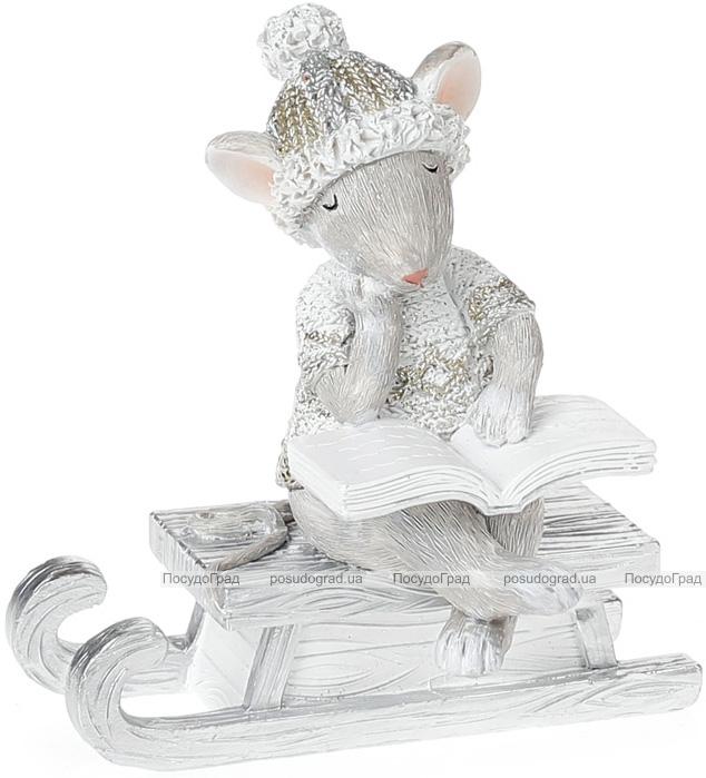 """Статуэтка """"Мышка с книгой"""" 10.5см"""