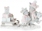 "Статуэтка ""Мышки развозят подарки"" 11см"