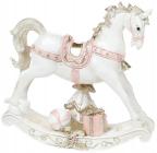 """Статуэтка """"Белая лошадка-качалка"""" 16.5см"""