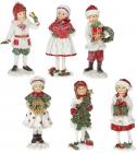 """Набор 6 статуэток """"Дети в ожидании Нового Года"""" 12см"""
