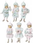 """Набір 6 статуеток """"Діти в очікуванні Нового Року"""" 12см, тіффані"""