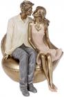 """Декоративна статуетка """"Amore"""" 15.5х14.5х17.5см, полистоун"""