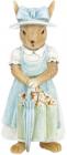 """Декоративная статуэтка """"Зайка с зонтом"""" 8х7.5х18.5см, полистоун, голубой"""