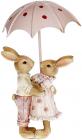 Декоративная композиция «Влюбленные кролики под зонтом» 9х4.5х11см
