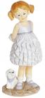 """Декоративна статуетка """"Дівчинка з другом"""" 7х6х15см, полістоун"""