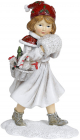 Статуетка декоративна «Дівчинка з муфтою» 12х9х19см