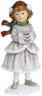 Статуетка декоративна «Дівчинка з муфтою» 8.5х7.5х18.5см
