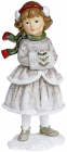 Статуэтка декоративная «Девочка с муфтой» 8.5х7.5х18.5см