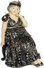 Статуетка декоративна «Дама у мріях» 12.5х11.5х17.5см, чорний з золотом