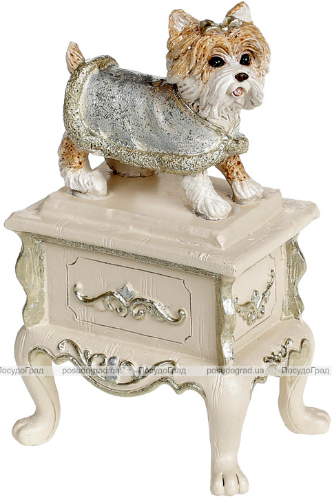 Статуэтка декоративная «Собачка на тумбе» 8.5х6х14см