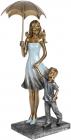 """Декоративна статуетка """"Мама з малюком"""" 11х9.5х24см, полістоун"""