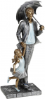 "Декоративная статуэтка ""Папа и Малышка"" 12.5х8.5х26см, полистоун"