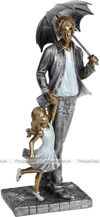"""Декоративна статуетка """"Папа і Малятко"""" 12.5х8.5х26см, полістоун"""