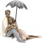 """Декоративна статуетка """"Сімейна Ніжність"""" 18х10х12см, полістоун"""