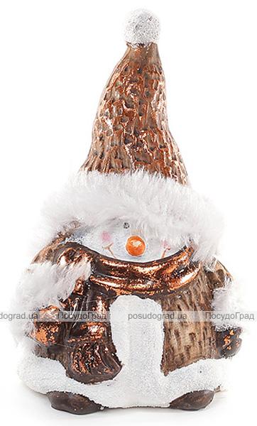"""Новогодняя декоративная статуэтка """"Снеговик"""" 16.5см"""