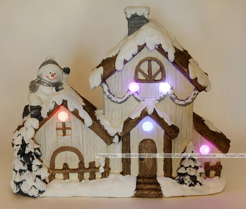 """Керамический декор """"Новогодний Дом"""" 49см с LED-подсветкой"""