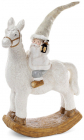 """Декоративна фігура під ялинку """"Санта на коні"""" 31.5х14.6х45см"""